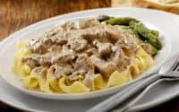 Beef Stroganoff with portobello dish